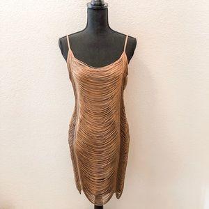 NWOT H&M Gold Flapper Dress